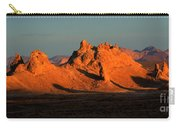 Trona Pinnacles Panorama Carry-all Pouch by Bob Christopher