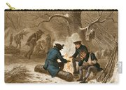 Troops At Valley Forge Carry-all Pouch