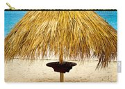Tropical Beach Umbrella Carry-all Pouch by Elena Elisseeva