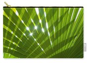 Tropical Palm Leaf Carry-all Pouch by Amanda Elwell