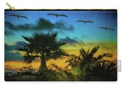 Tropical Sunset With Pelicans Carry-all Pouch