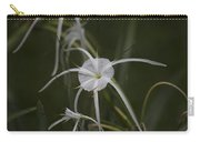Tropical White Spider Lily Carry-all Pouch