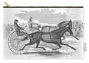 Trotting Horses, 1854 Carry-all Pouch