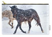 Trotting In The Snow Carry-all Pouch