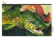 Trout In Hand Carry-all Pouch