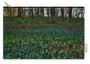 Trout Lilies On Forest Floor Carry-all Pouch by Steve Gadomski