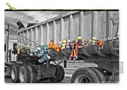 Truck And Dolls With Selective Coloring Carry-all Pouch