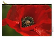 Truly Red Oriental Poppy Wildflower Carry-all Pouch