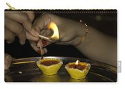 Trying To Light An Oil Lamp That Has Gone Out Carry-all Pouch