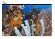 Tube Sponge On Coral Reef In Raja Carry-all Pouch