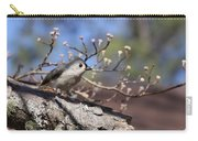 Tufted Titmouse - Bird - Color In Shadows Carry-all Pouch