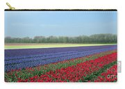 Tulip And Hyacinth Fields In Holland. Panorama Carry-all Pouch