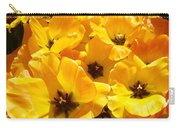 Tulips Art Prints Yellow Tulip Flowers Floral Carry-all Pouch