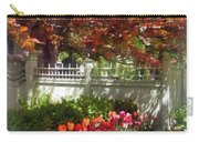 Tulips By Dappled Fence Carry-all Pouch