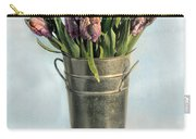 Tulips In Metal Vase Carry-all Pouch