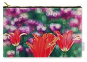Tulips On Beautiful Bokeh Carry-all Pouch