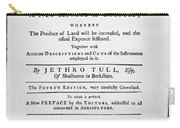 Tull: Title Page, 1762 Carry-all Pouch by Granger