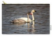 Tundra Swan And Cygnet Carry-all Pouch