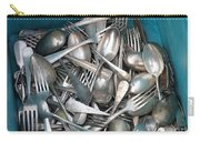 Turquoise Box Of Silverware Carry-all Pouch