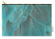 Turquoise Blue Feathers Carry-all Pouch