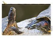Turtle Conversation Carry-all Pouch by Elena Elisseeva