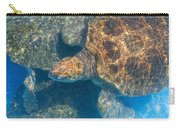 Turtle Underwater,high Angle View Carry-all Pouch