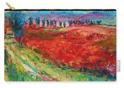 Tuscany Italy Landscape Poppy Field Carry-all Pouch