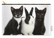 Tuxedo Kittens With Dutch Rabbit Carry-all Pouch