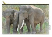 Twin Elephants Carry-all Pouch