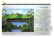 Twin Ponds And 23 Psalm On White Carry-all Pouch