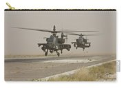 Two Ah-64 Apache Helicopters Prepare Carry-all Pouch