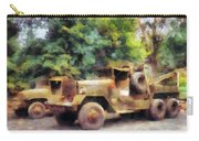 Two Army Trucks Carry-all Pouch