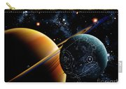 Two Artificial Moons Travelling Carry-all Pouch