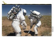 Two Astronauts Collect Soil Samples Carry-all Pouch by Stocktrek Images