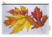 Two Autumn Maple Leaves  Carry-all Pouch