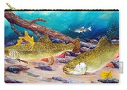 Two Brook Trout Carry-all Pouch