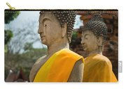Two Buddha Statues Wrapped In An Orange Scarf  Carry-all Pouch