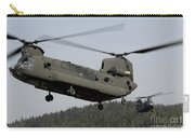 Two Ch-47 Chinook Helicopters In Flight Carry-all Pouch