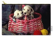 Two Dalmatian Puppies Carry-all Pouch