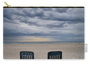 Two Deck Chairs At Sunrise On The Beach Carry-all Pouch