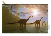 Two Diplodocus Dinosaurs Wade Carry-all Pouch