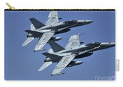 Two Fa-18c Hornets In Flight Carry-all Pouch
