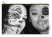 Two Faces In Black And White Carry-all Pouch