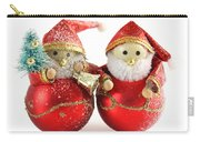 Two Father Christmas Decorations Carry-all Pouch