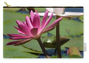 Two Graceful Water Lilies Carry-all Pouch by Sabrina L Ryan