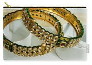 Two Green And Gold Bangles On Top Of Each Other Carry-all Pouch
