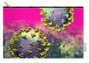 Two Hiv Particles On Hot Pink Carry-all Pouch