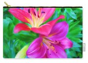 Two Lily Flowers Carry-all Pouch