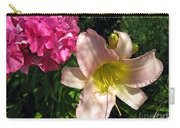 Two Pink Neighbors- Lily And Phlox Carry-all Pouch
