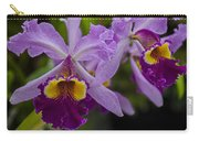 Two Pink Purple Orchids Carry-all Pouch